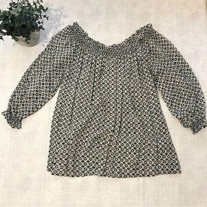 GRAND & GREENE 3/4 Sleeve Off-Shoulder Blouse